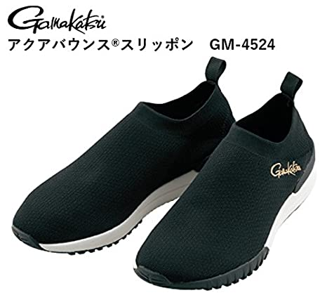 がまかつ(Gamakatsu)マリンシューズアクアバンススリッポンブラックLLの画像