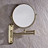 Luxury Wall Mount Adjustable Floding 3 Plus Make-up Mirror Solid Brass Swivel Magnified Mirror Polished Bass Finish Mirror with Folding Arm