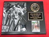 Yankees Lou Gehrig Collectors Clock Plaque #1 w/8x10 Photo and Card LUCKIEST MAN SPEECH