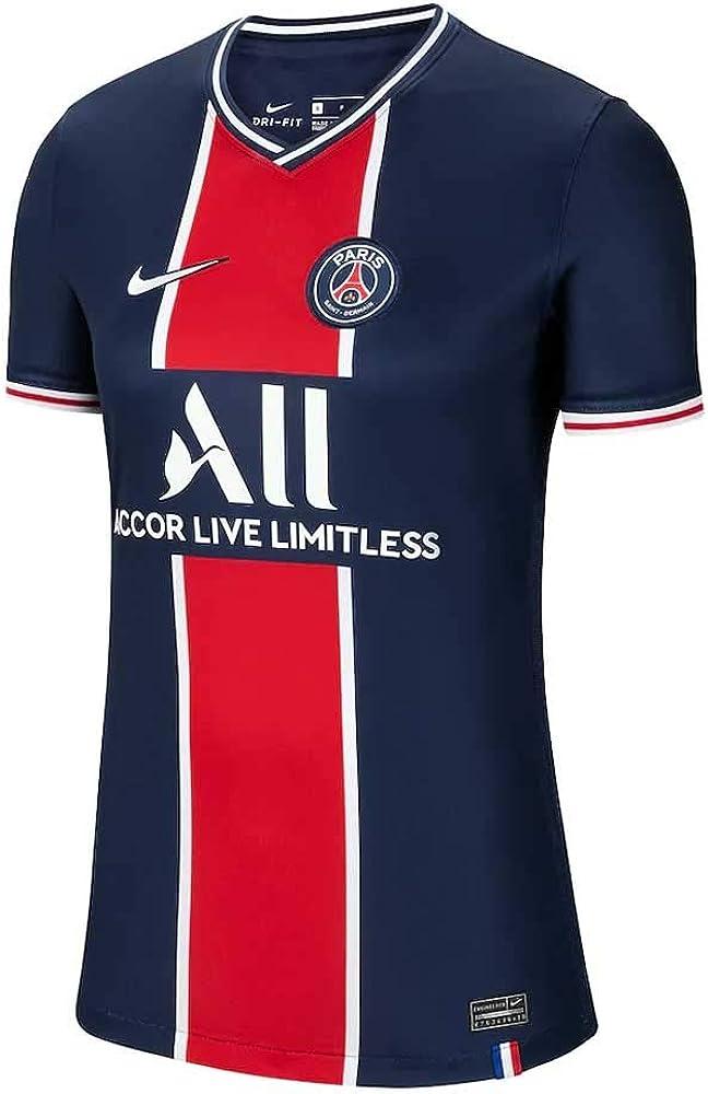 Nike 2020-2021 PSG Home Womens Football Soccer T-Shirt Jersey