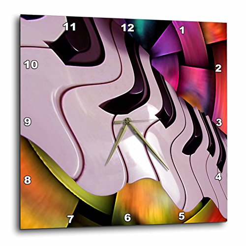 3dRose dpp_4095_2 Piano Abstract-Wall Clock, 13 by 13-Inch