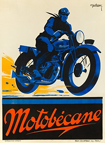 Motobecane Vintage Poster (artist: Geo Ham) France (24x36 Giclee Gallery Print, Wall Decor Travel ()