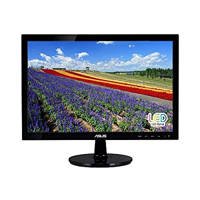 "ASUS VS197D-P 18.5"" WXGA 1366x768 VGA Back-lit LED Monitor"