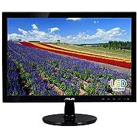 """ASUS VS197D-P 18.5"""" WXGA 1366x768 VGA Back-lit LED Monitor, Black"""