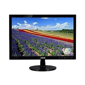 """ASUS VS197D-P 18.5"""" WXGA 1366x768 VGA Back-lit LED Monitor"""
