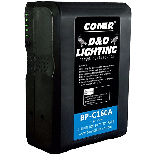160Wh Anton Bauer Gold Mount Lithium Ion Broadcast Replacement Battery Brick with D Tap Cable by Comer by D & O Lighting