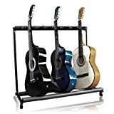 #4: 7 Multi Guitar Bass Folding Stand Stage 7 Holder Rack Guitar Stand