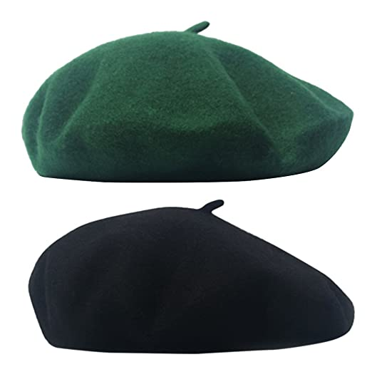 3a5ad9b81b4 AIYUE reg  Women Men French Beret Wool Warm Beanie Hat Solid Color Artist  Painter Fancy Dress