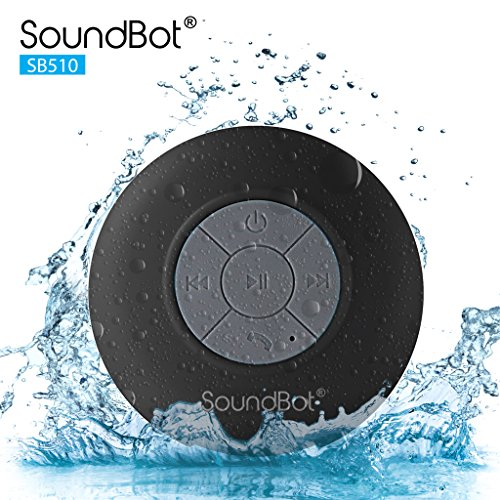 Elegant SoundBot SB510 HD Water Proof Bluetooth 3.0 Speaker, Mini Water Resistant  Wireless Shower Speaker, Handsfree Portable Speakerphone With Built In Mic Photo Gallery