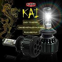 KAI AKARUI 9005 LED Headlight Bulbs Conversion Kit 7000 LM 6000K White Pair