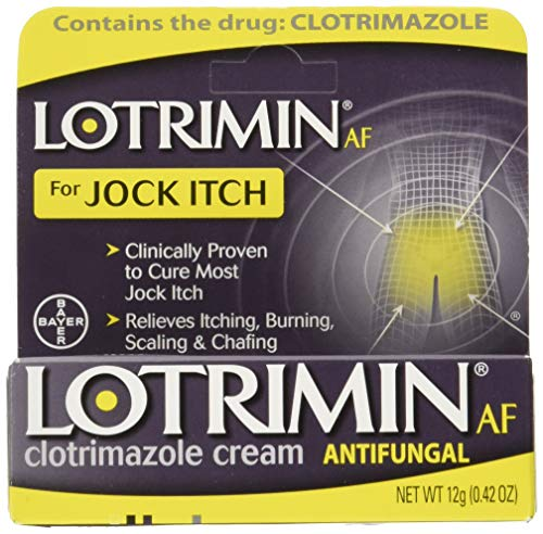 - Lotrimin AF Jock Itch Antifungal Cream, 0.42 Ounce, Pack of 2