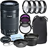 Canon EF-S 55-250mm f/4.0-5.6 IS STM Telephoto Zoom Lens for Canon SLR Cameras + 3pc Filter Kit + 4pc Macro Kit + 2.2x Telephoto Lens + Lens Hood + 14pc Bundle – International Version