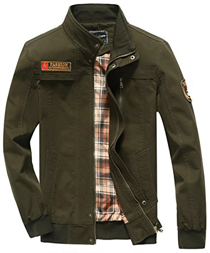 Verde Yyzyy Giacca Militare Uomo Camicia XwqO0q7R