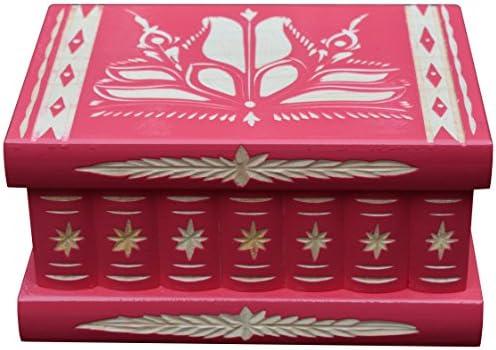 TransylvanyArt Joyero para Niñas, Caja de Madera para Misterio Tallada con Compartimentos Secretos, Regalos únicos, Color Rosa: Amazon.es: Hogar