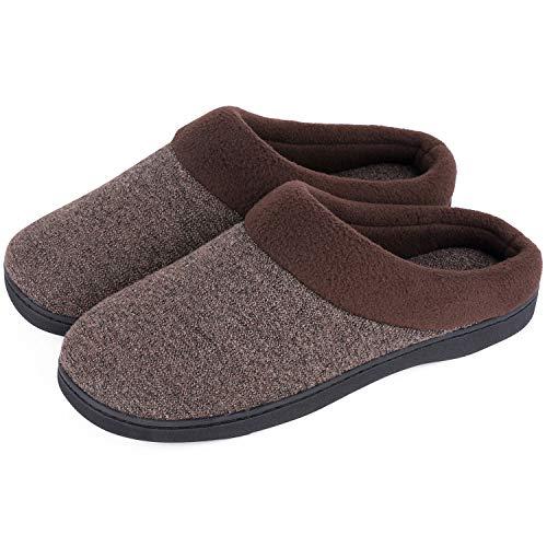 HomeIdeas Merrimac Men's Mixed Wool-Like Knit Slip-on 13-14 D(M) US, Light Tan