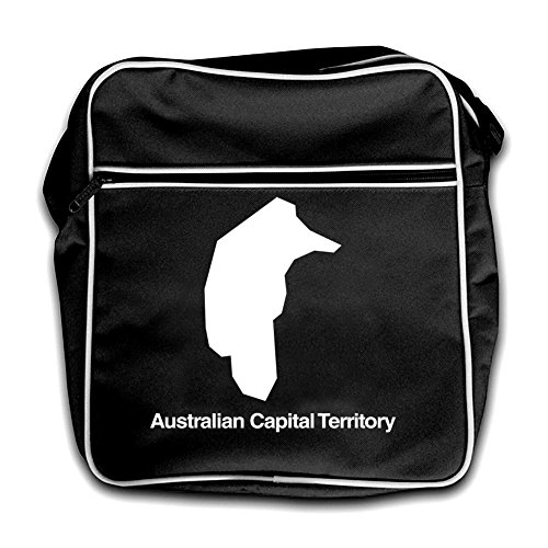 Black Silhouette Australian Capital Retro Flight Bag Territory Red pZ0qZg