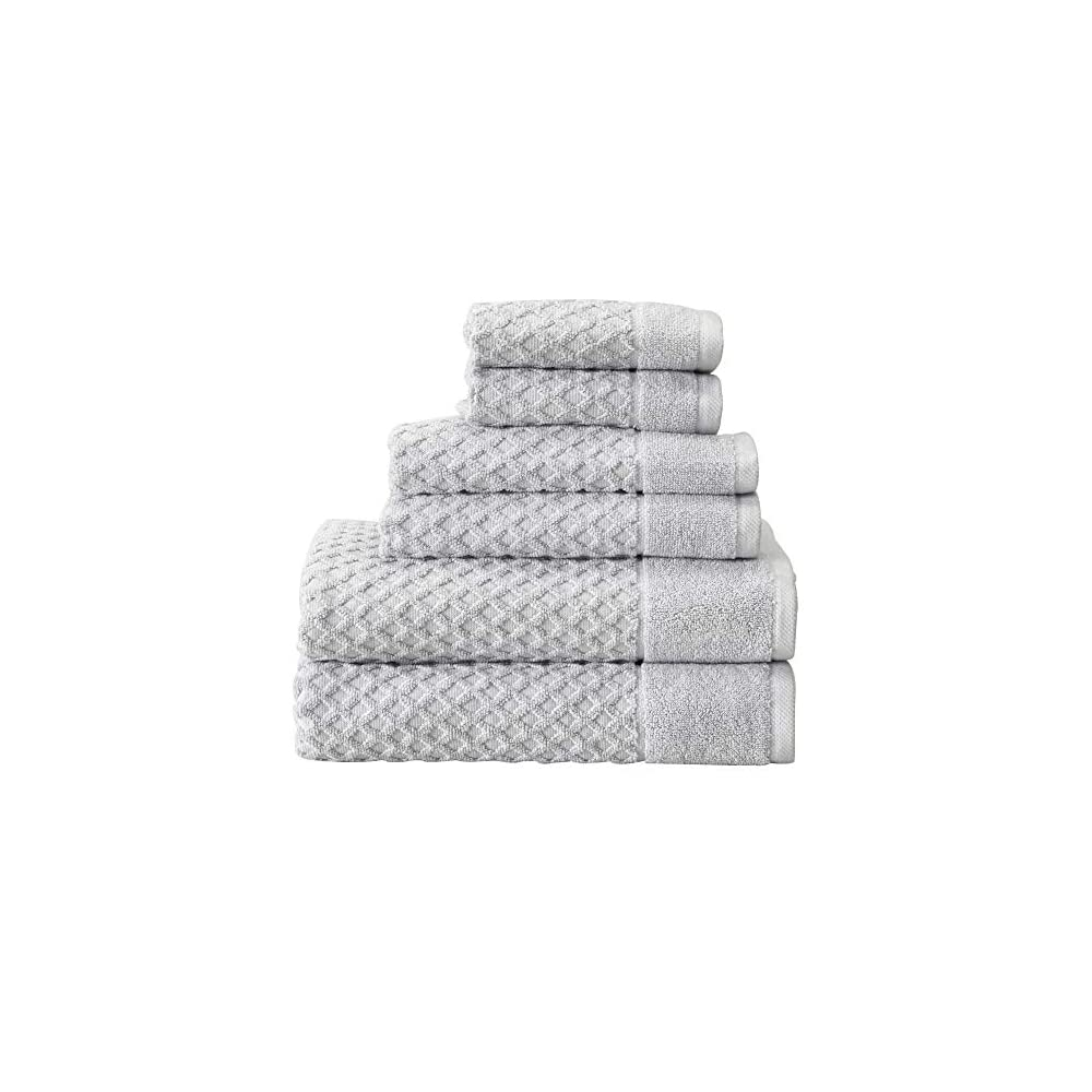 100% Cotton Bath Towels, Luxury 6 Piece Set - 2 Bath Towels, 2 Hand Towels and 2 Washcloths. Absorbent Quick-Dry…