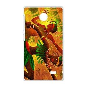 Creative Joyful Leaves Men High Quality Custom Protective Phone Case Cove For NOKIA X