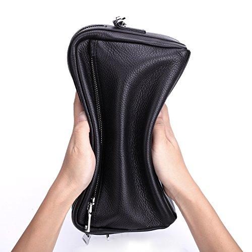 mano de uso Ying Black de cuero Bags de cuero de Bolso de de del Bolso ocio hombro de almacenamiento Crossbody Bolso de de Bolso los jefe Bolso negocios doble de hombres 7qO7rFw