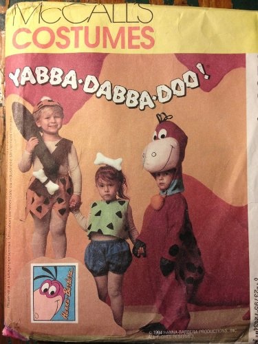 McCall's Costumes 7203 Flintstones Sewing Pattern Size 7,8 Large (Pebbles And Bam Bam Halloween Costumes)