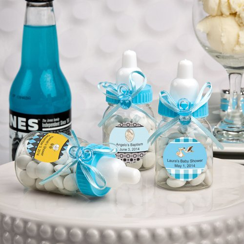 Charmed Baby Bottle Shower Favor,3-Inches, Blue (Pack of 24)]()
