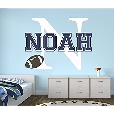 Custom Football Name Wall Decal - Baby Room Decor - Nursery Wall Decals - Sports Wall Decor Vinyl (30Wx22): Baby