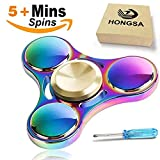 HONGSA New Version Fidget Spinner Toy Durable Stainless Steel Bearing High Speed 4-5 Min Spins Tri-spinner Precision Colorful Metal Hand Spinners Toy with 1 Screwdrive