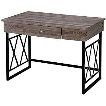 Amazon Com Altra Wildwood Wood Veneer Desk Rustic Gray