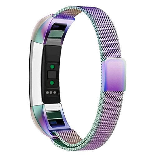 HP95(TM) For Fitbit Alta HR Bands, Replacement Milanese Magnetic Steel Watch Band For Fitbit Alta HR (Multicolor) by HP95(TM)