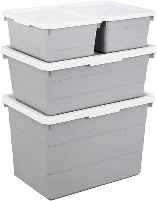 Yhjklm-HE - Caja de Almacenamiento para Ropa de plástico (tamaño Grande): Amazon.es: Hogar