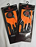 2 Zero Friction Men's Golf Gloves, One Size, Left Hand, Orange
