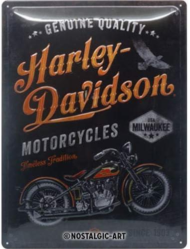 Harley Davidson Rustic Oil Can Metal Sign