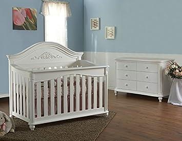 Pali Gardena 2 Piece Nursery Set   Crib, Double Dresser In White
