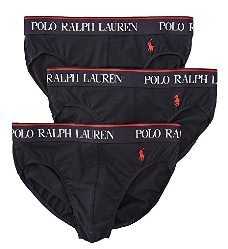 Polo Ralph Lauren Stretch Cotton Brief 3-Pack, L, Polo Black