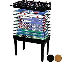 Multigame Spieletisch Mega 15 in 1 inkl. Zubehör, Farbwahl: schwarz / buche
