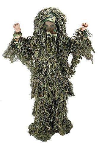 Ghillie Suit Child Costumes (Kids Large/XLWoodland Camo Ghillie Suit)