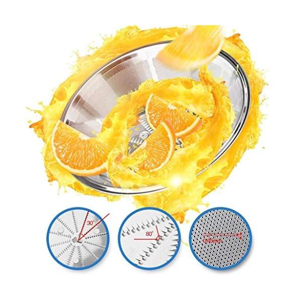 SLRMKK Macchina spremiagrumi, spremiagrumi centrifuga spremiagrumi Multifunzionale per Uso Domestico, spremiagrumi in… 5 spesavip