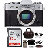 Fujifilm X-T20 Mirrorless Camera Body (Silver) + Focus Camera 32gb Bundle