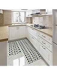 Eanpet Kitchen Rugs Sets 2 Piece Kitchen Floor Mats Non Slip Rubber Backing  Area Rugs