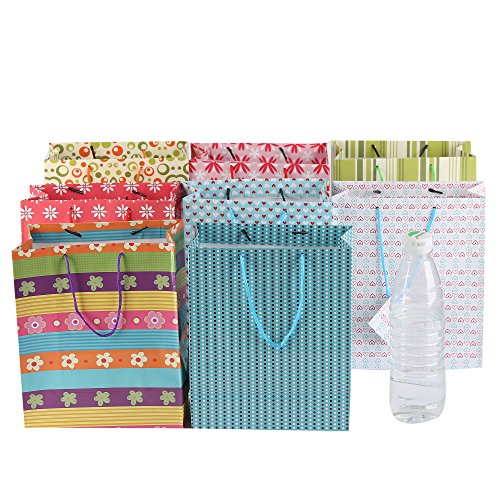 Fun Central (BC742) 60ct 9 Inch Colorful Gift Bag, Gift Bags, Gift Bag, Amazon Gift Bags, Birthday Gift Bags, Gift Bags for Kids, Wedding Gift Bags, Birthday Gift Bag, Baby Gift Bags – Assorted