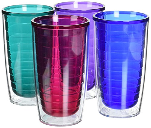 Tervis Assorted Tumblers, 16-Ounce, Jewel, 4-Pack (4 Pack 16 Oz Tumblers)