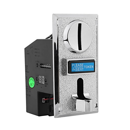 Coin Acceptor, Asixx Multi Coin Acceptor Selector Slot Anti-Phishing, Anti-Mixed Coin, Anti-Shock, Anti-high Frequency for Arcade Game Mechanism Vending Machine