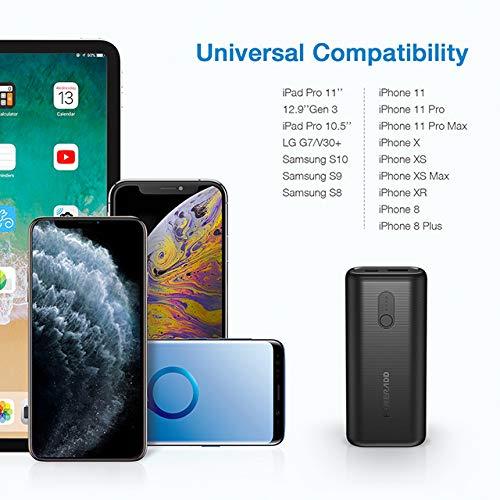 POWERADD EnergyCell II 10000mAh Power Bank PD 18W Cargador Portátil Batería Externa para iPhone, Samsung,Huawei,Xiaomi,iPad,y Otros Dispositivos-Negro