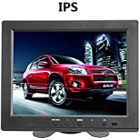 Sherosa 8 inch IPS LCD Monitor Screen 4:3 1024 768 with VGA/HDMI/BNC/AV Function For Car DSLR & PC & DVD & Car Backup Camera