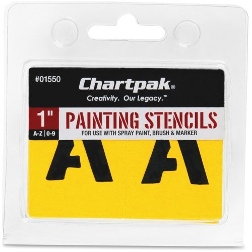 Chartpak Painting Stencil (Chartpak Painting Letters & Numbers Stencil - 1