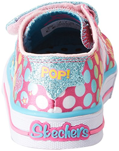 Hot Multicolour Skechers Baskets Posse Shuffles Bébé Pink Fille Multicolore Poppin vxPw0ZnxqT