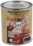 SamaN SAM-310-1L 1-Quart Interior Stain for Fine Wood for Seal, Stain and Varnish, Coffee by Saman