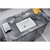 CAHABA CA425T1813-W 18 x 13 White Glazed Porcelain Bathroom Sink