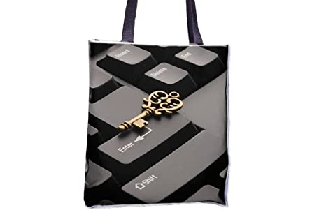 Keyboard, Key, Success, Online, bolsa Totes impresos por ...