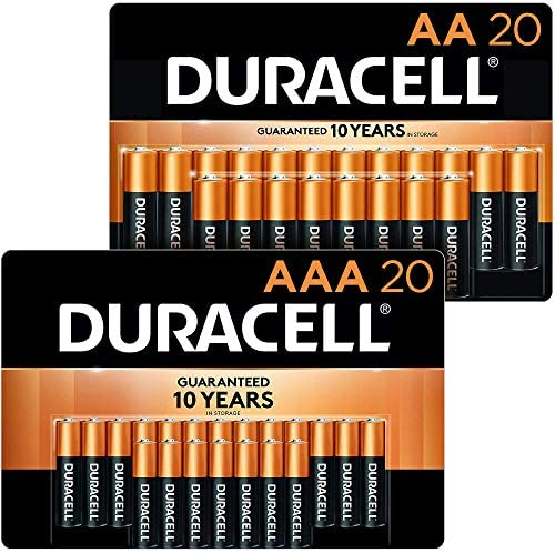 Duracell - CopperTop AA + AAA Alkaline Batteries - lengthy lasting, all-purpose Double A & Triple A battery - 20 Count